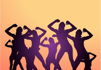 Dancing Party People - Kostenloses vector #156065