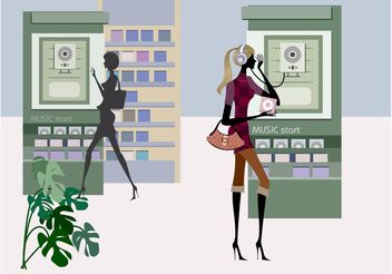 Shopping Women Graphics - Free vector #156135