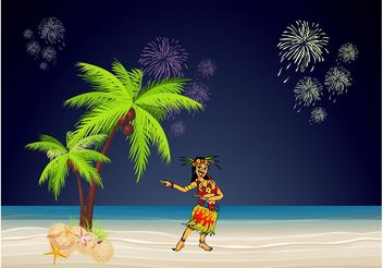 Hawaii Party - vector gratuit #156225