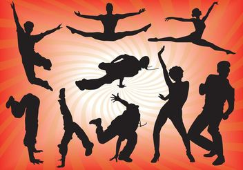 Dancing People Vector Graphics - Free vector #156235