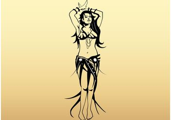 Sexy Belly Dancer - vector #156255 gratis
