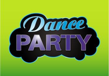 Party Label - vector gratuit #156265
