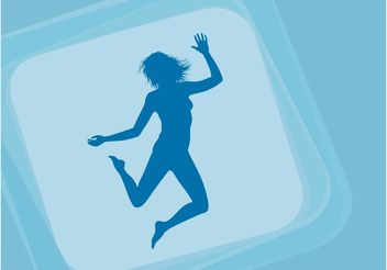 Jumping Happy Girl - Free vector #156295