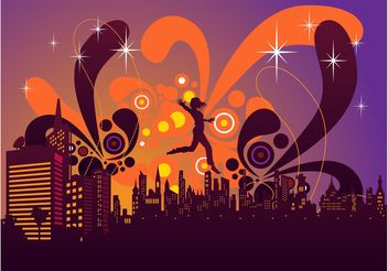 Magical City Vector - vector #156345 gratis