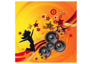 Dancing Girl Poster - Free vector #156385