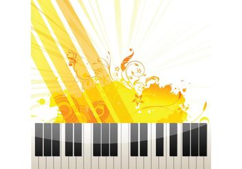 Piano Keys on Abstract Background - Free vector #156465