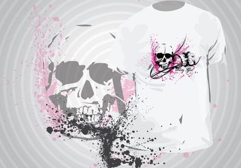 Grunge T-Shirt Template - Free vector #156485