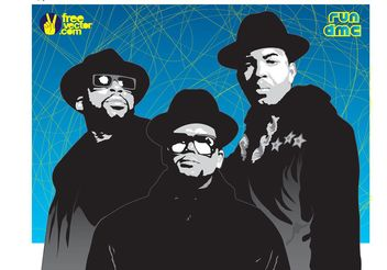 Run DMC Vector - Free vector #156505
