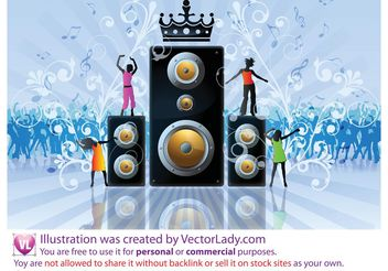 Free Party Flyer Stock Vector - vector gratuit #156535