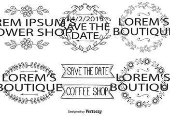 Cute Hand Drawn Editable Labels - vector #156555 gratis