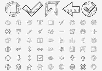 Hand Drawn Icons Vector - бесплатный vector #156585