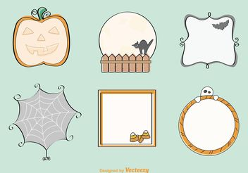 Decorative Hand Drawn Halloween Vectors - vector gratuit #156635
