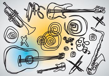Music Vector Doodles - Free vector #156665