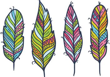 Free Feather Isolated Vector Set - Free vector #156845