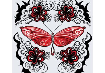 Free Vector Butterfly Pattern - vector gratuit #156905