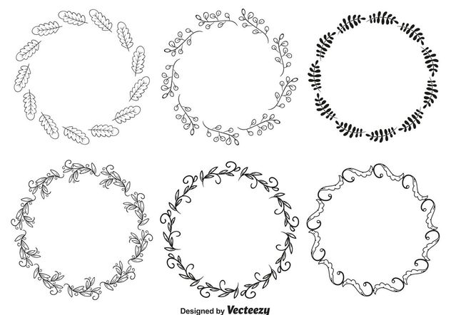 Decorative Frame Set - Free vector #156915