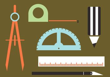 Architecture Tools Vectors - бесплатный vector #156955