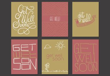 Get Well Soon Cards Free Vector - vector #156985 gratis