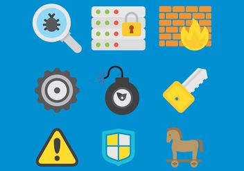 Computer Security Vector Icons - vector gratuit #157195