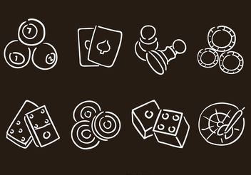 Hand Drawn Gaming Vector Icons - Free vector #157215