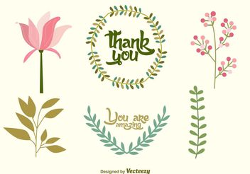 Wedding Floral Vector Decorations - Free vector #157225
