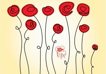 Rose Doodles - vector gratuit #157325