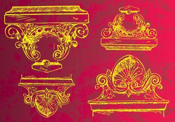 Ancient Decoration - vector gratuit #157345