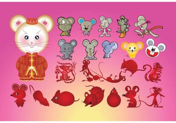 Mice Cartoons - Free vector #157365