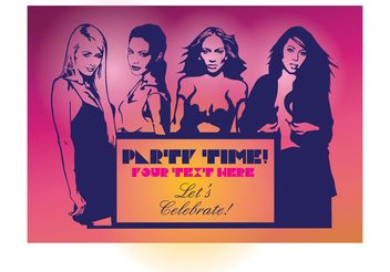 Sexy Girls Party Flyer - vector gratuit #157405