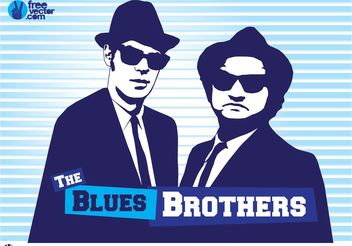 Blues Brothers - vector gratuit #157435