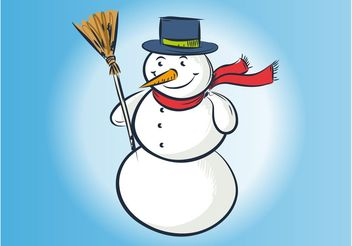 Vector Snowman Drawing - Free vector #157535