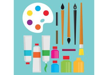 Art Supplies Vectors - vector #157575 gratis