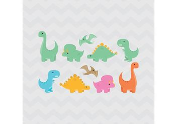 Dinosaurs - Free vector #157585