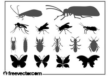 Insects Graphics Set - vector #157615 gratis