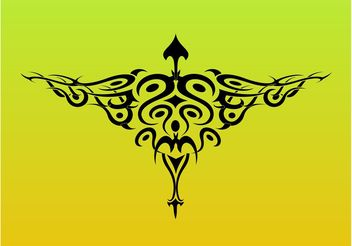 Tribal Bird Tattoo Graphics - Free vector #157745