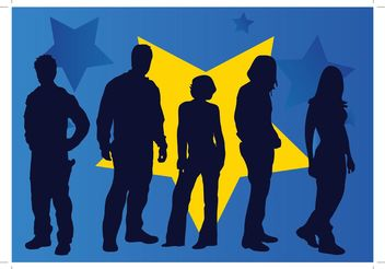 People Silhouette Vectors - Free vector #157815