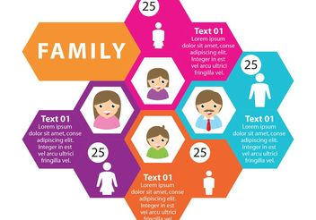 Family Vector Infographic - Kostenloses vector #157845