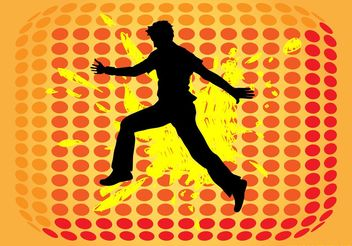 Jumping Man Silhouette - Free vector #157875