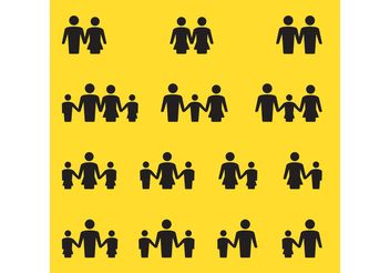 Family Vector Icons - Free vector #157895
