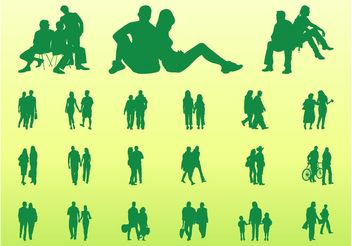 People In Groups Graphics - vector gratuit #157955