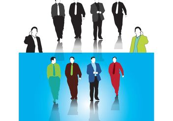 Businessmen Vectors - vector gratuit #158035