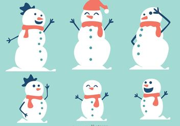Snowman Family Vector Pack - Kostenloses vector #158045
