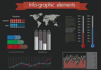 Free Vector Infographic Elements - vector gratuit #158055
