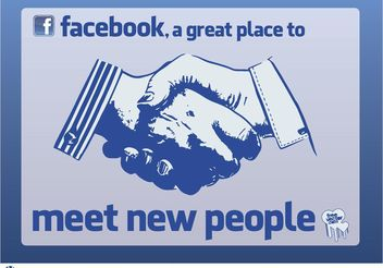 Facebook Meet People - vector gratuit #158095