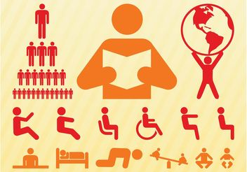 People Symbols Set - бесплатный vector #158135