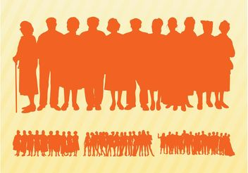 Crowds Silhouettes Graphics - Kostenloses vector #158165