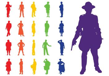 Professions Silhouettes Set - Kostenloses vector #158275