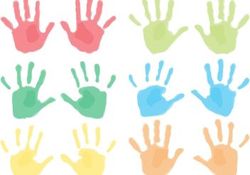 Child Handprints - vector gratuit #158285