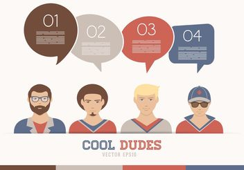 Free Vector Cool Dudes Avatars - бесплатный vector #158305