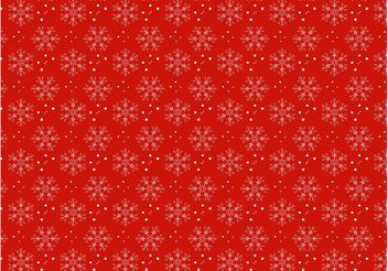 Christmas Snow Pattern - vector gratuit #158385